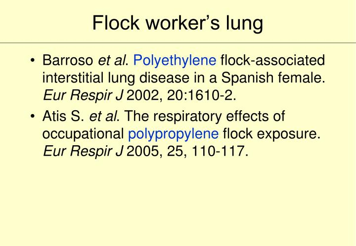 Flock worker's lung