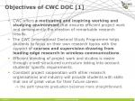 objectives of cwc doc 1