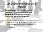 le fondement social de la morale