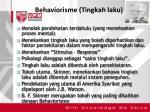 behaviorisme tingkah laku