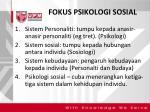 fokus psikologi sosial