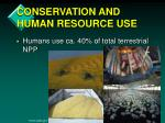 conservation and human resource use