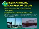 conservation and human resource use2