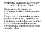 managing diversity kenya s 21 st century challenge