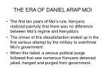 the era of daniel arap moi