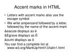 accent marks in html
