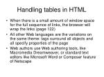 handling tables in html1