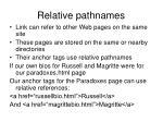 relative pathnames