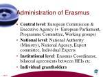 administration of erasmus