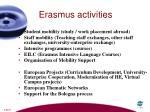 erasmus activities