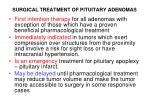 surgical treatment of pituitary adenomas