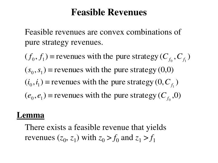 Feasible Revenues