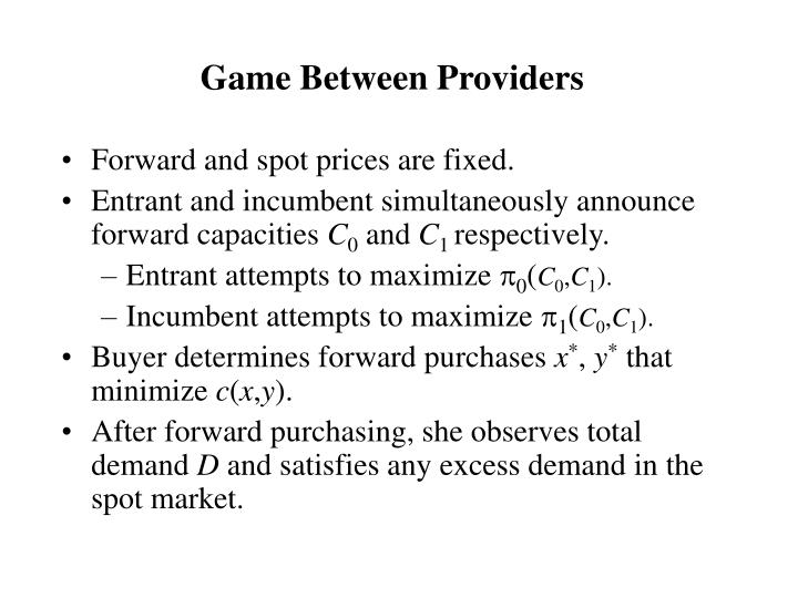 Game Between Providers
