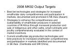 2008 mk02 output targets