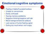 emotional cognitive symptoms