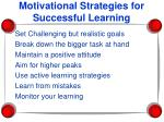 motivational strategies for successful learning