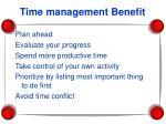 time management benefit