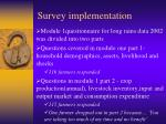 survey implementation