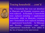 tracing household cont d