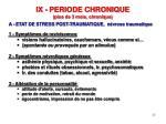 ix periode chronique plus de 3 mois chronique