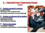x prevention therapeutique suite