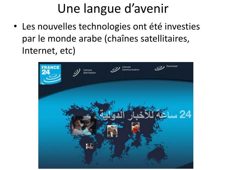 Une langue d'avenir