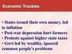 economic troubles