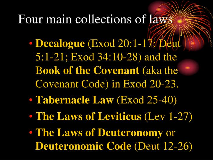 Four main collections of laws