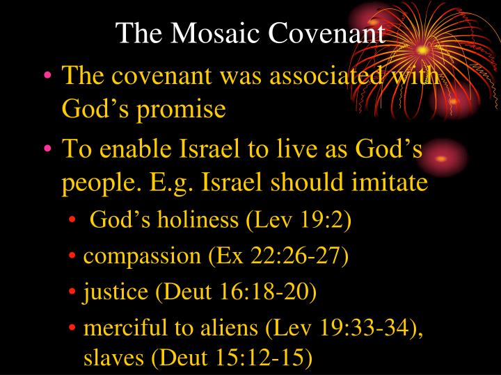 The Mosaic Covenant