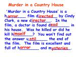 murder in a country house