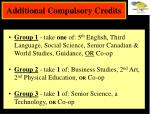 additional compulsory credits