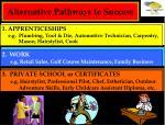 alternative pathways to success