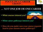 focus on a career group