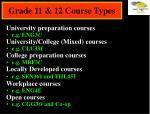 grade 11 12 course types