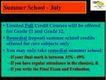 summer school july