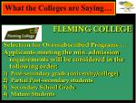 what the colleges are saying1