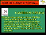 what the colleges are saying2