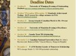 deadline dates