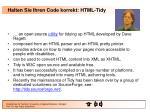 halten sie ihren code korrekt html tidy