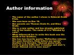 author information