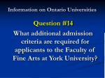 information on ontario universities27