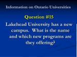 information on ontario universities29