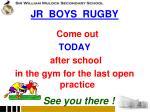 jr boys rugby