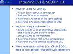 including cps scos in ld