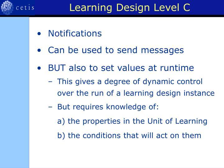Learning Design Level C