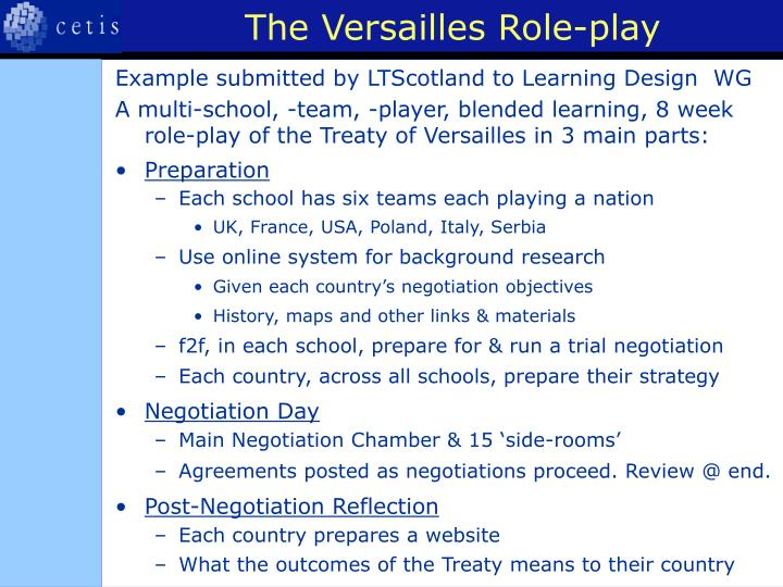 The Versailles Role-play