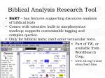 biblical analysis research tool