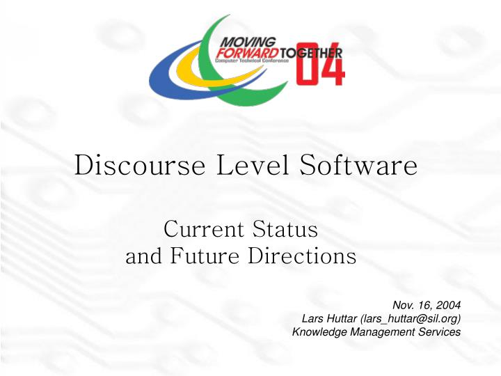 discourse level software n.