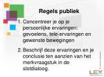 regels publiek