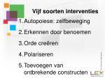 vijf soorten interventies